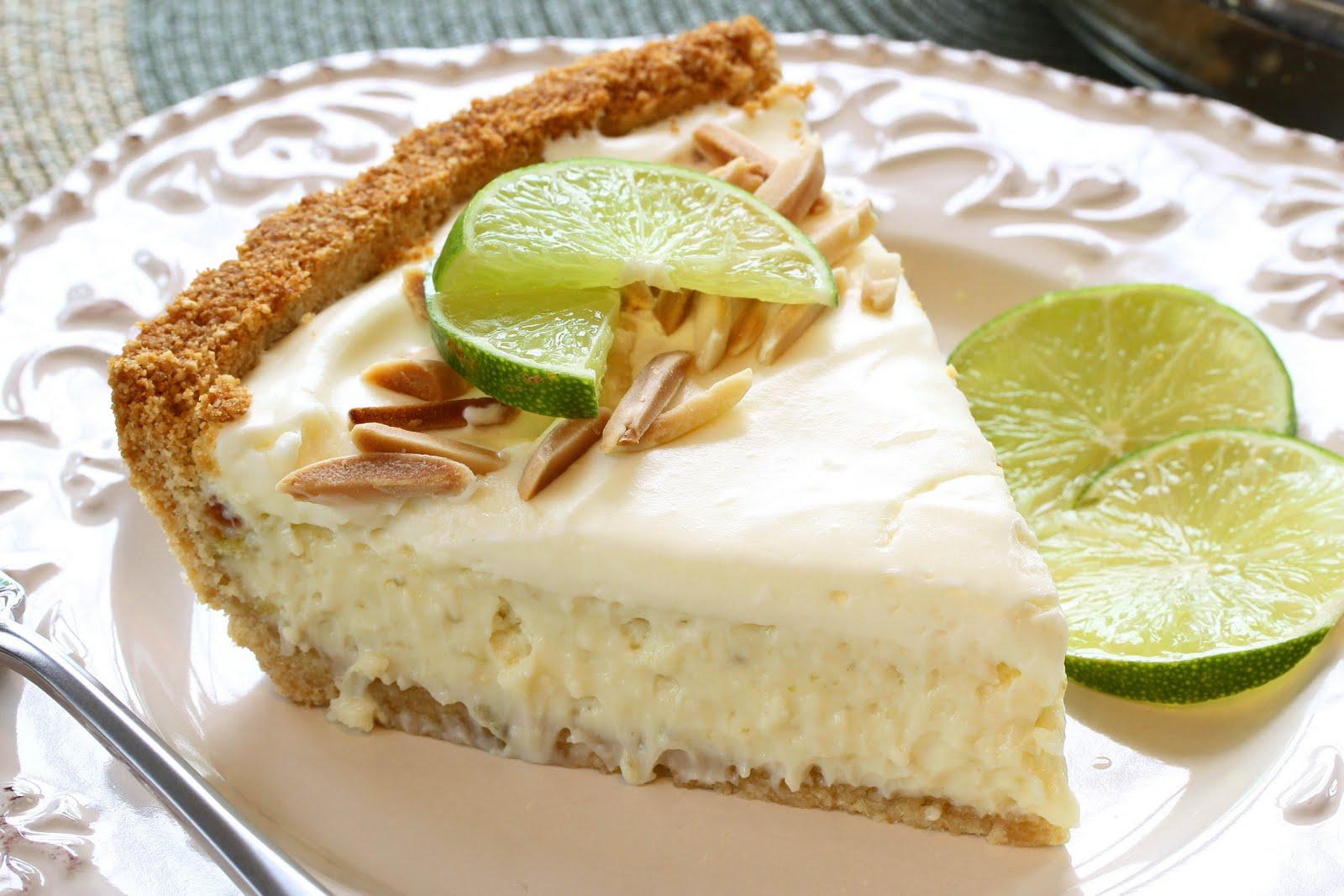 Pie No. 23 - Marshmallow-Almond Key Lime Pie - Saving Room for Dessert