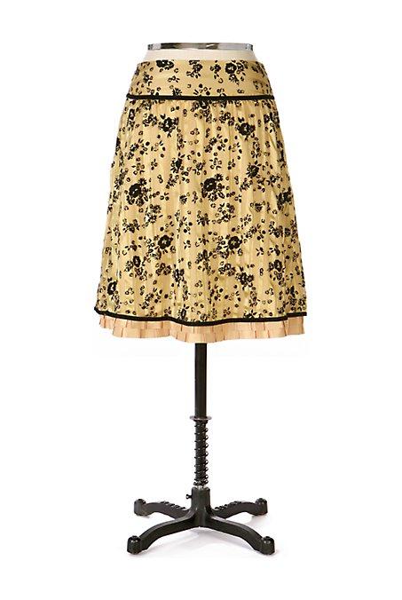 Anthropologie Crimp Petal Skirt