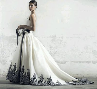 Wedding Dresses in White and Black