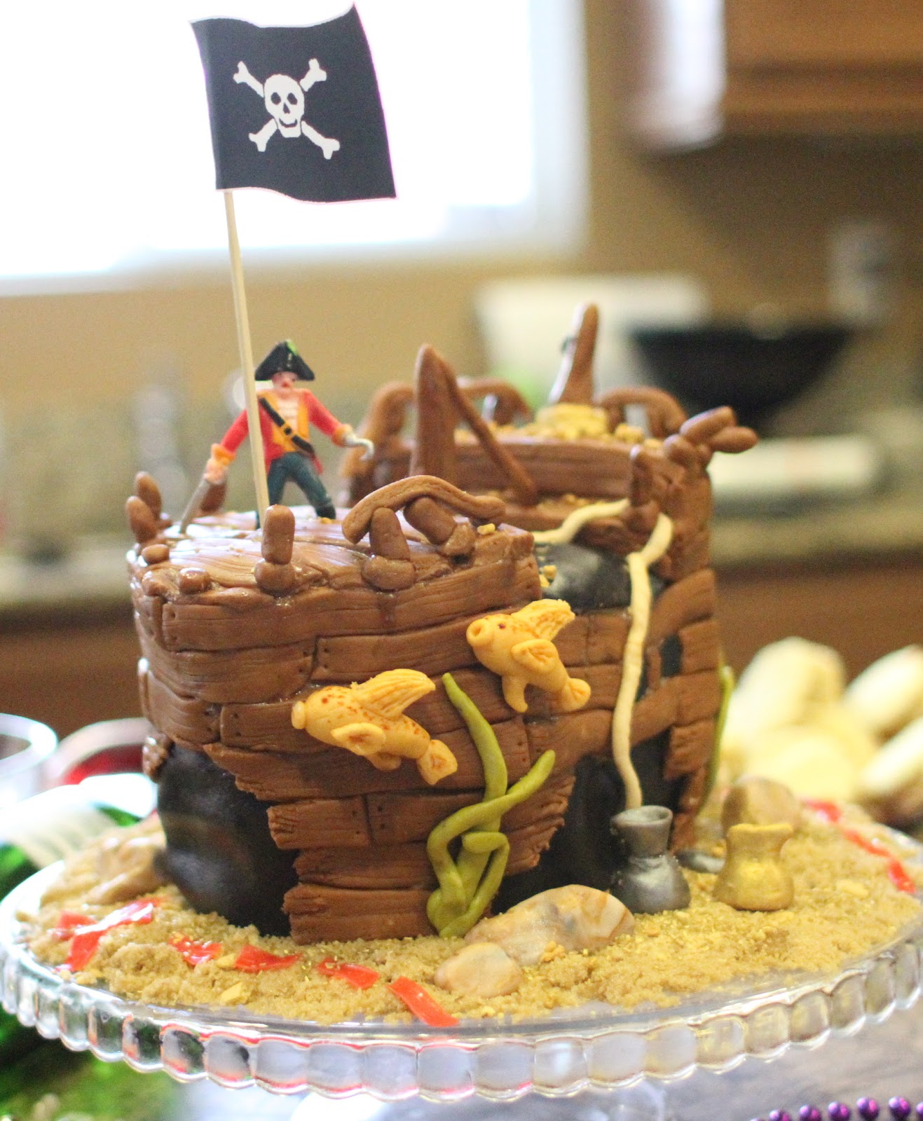 Melissas Projects Pirate Ship Birthday Cake