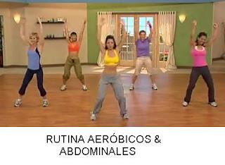 Rutina aeróbicos y abdominales: 30 min