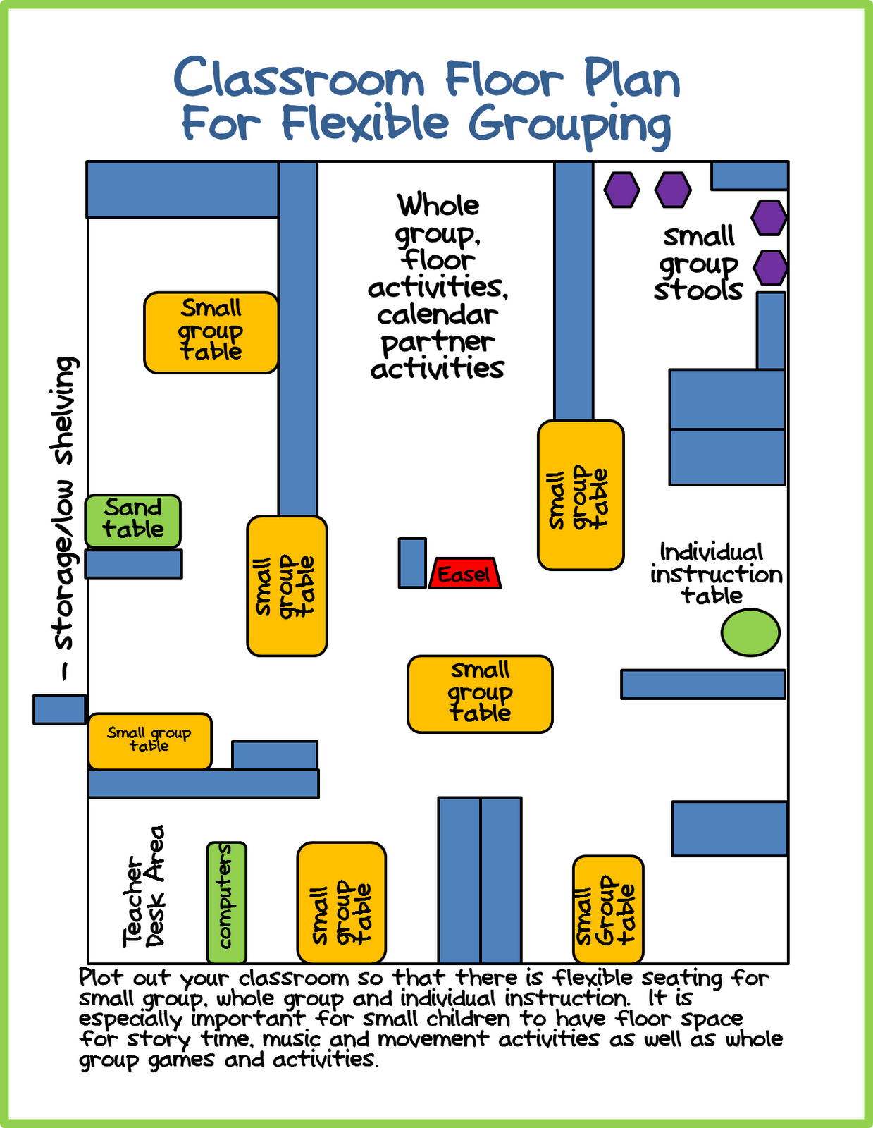 Making the most of my small space differentiated for Design a preschool classroom floor plan online