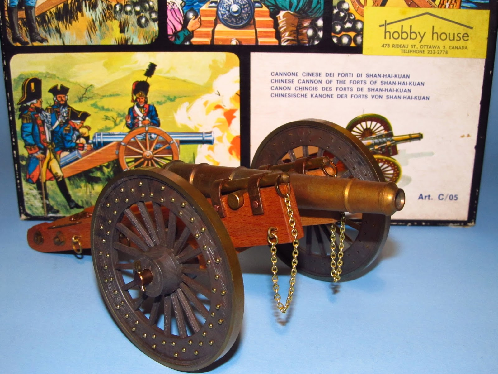 Clearwater Models: CHINA 1867 FORT SHAN-KAI-KUAN CANNON (Pocher Torino)