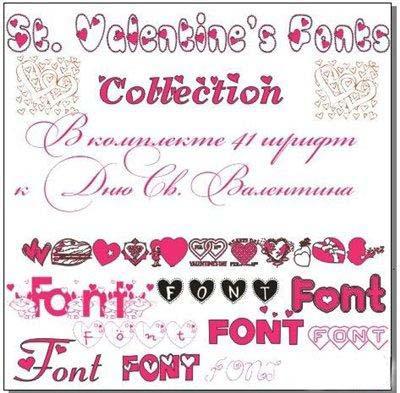 Sevgililer günü yazı fontları