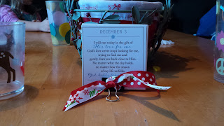 """Devotional card from Ann Voskamp's """"The Greatest Gift"""" is a reminder to enjoy imperfection."""