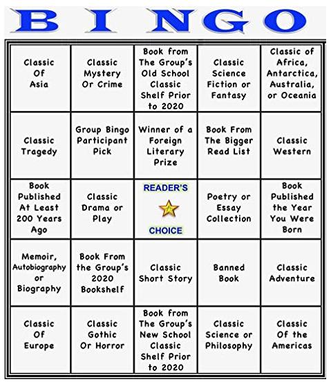 2020 Classic Bingo Challenge