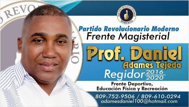 Prof. Daniel Adames Tejeda Regidor 2016