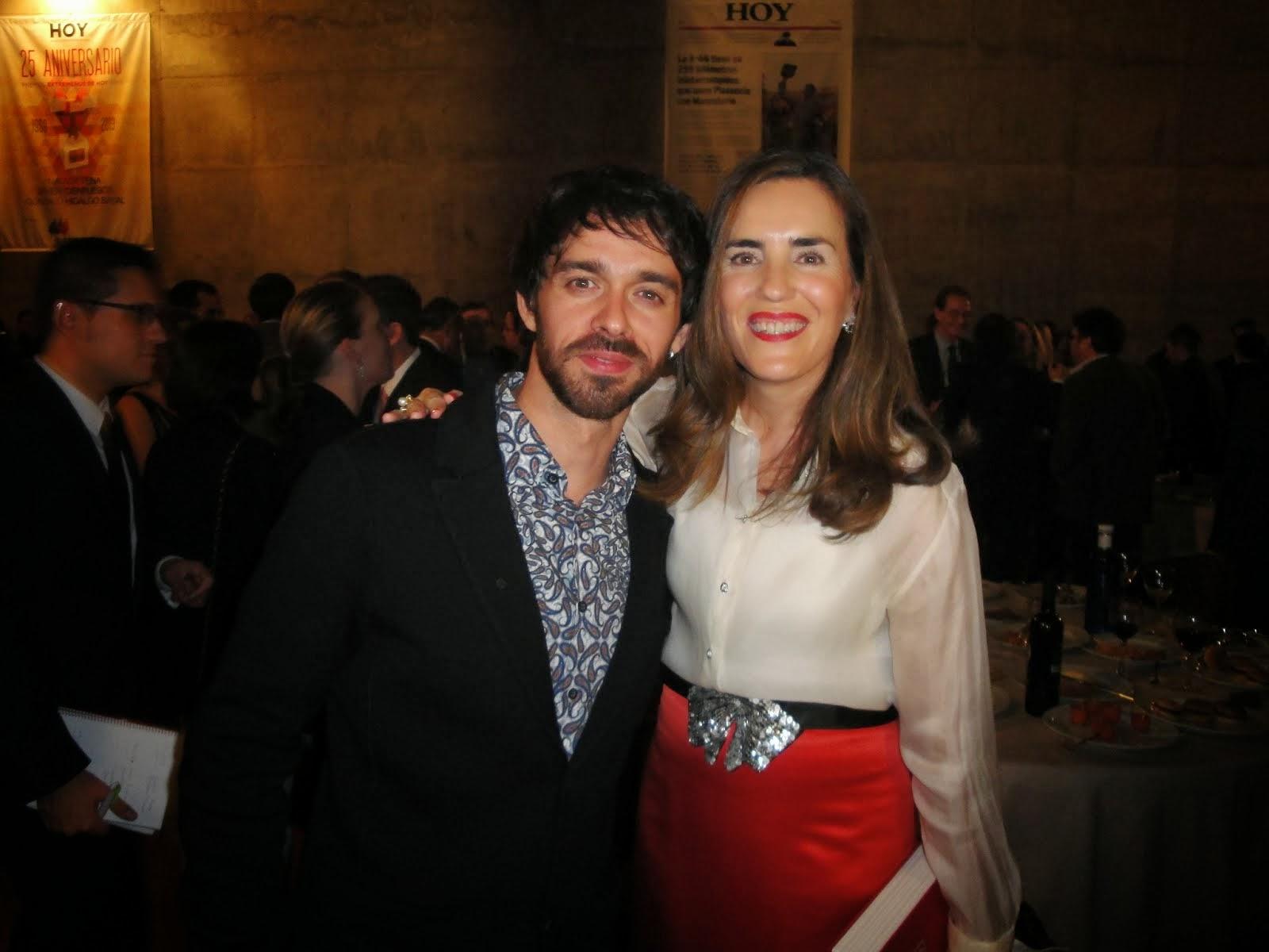 Con el actor Alberto Amarilla