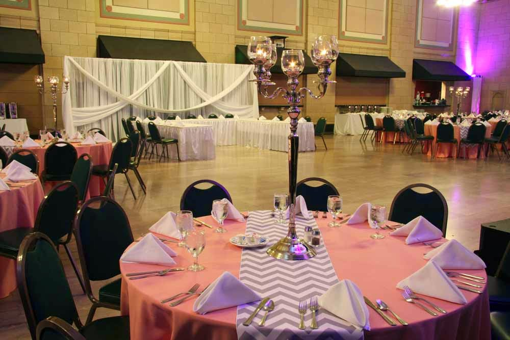 And Chalkboard For A Trendy Wedding Reception At The Lincoln Station In Nebraska Crystal Beaded Vases Candelabras Make Gorgeous DIY