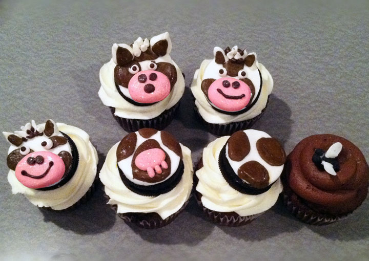 Cow Cupcake Toppers