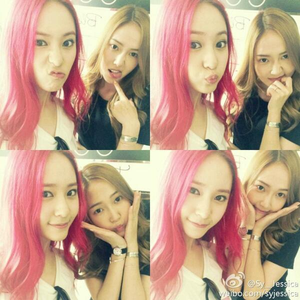 jessica and krystal snap cute selcas daily k pop news