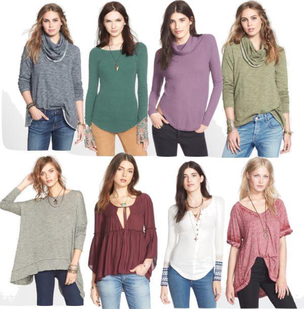 Fall Fashion - loose tops + leggings or jeans
