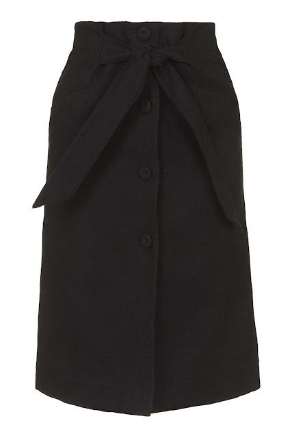 tie waist button down skirt,