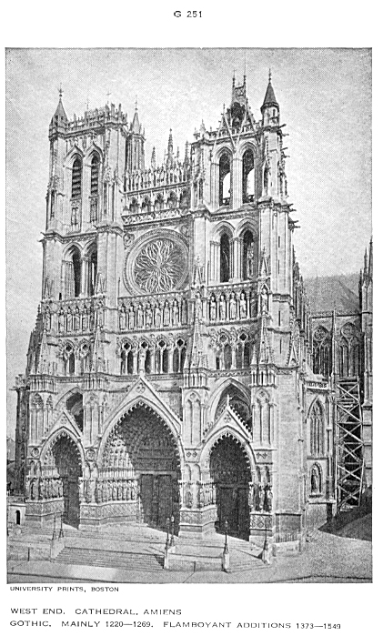K 68 G 251 252 With Plan On 330 And Drawings B 331 Amiens Cathedral Another Notre Dame Begun In 1220 Practically Completed Within