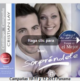 Catalogo cristian lay Panama C-10 2013