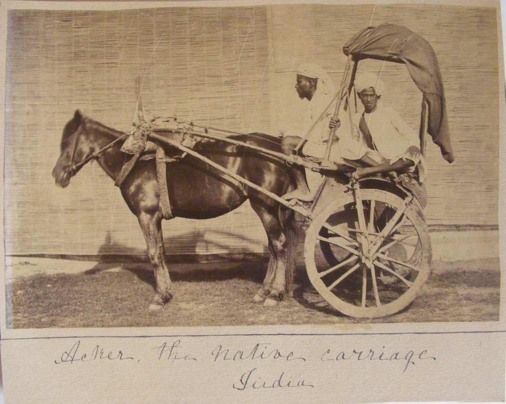 The Native Horse Carriage - India 1870's