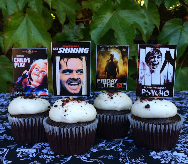 Horror Movie Halloween Cupcake Toppers | www.jacolynmurphy.com