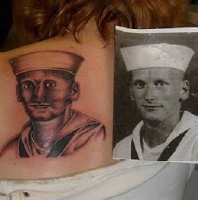 Strange and ugly Photo Tattoos Seen On www.coolpicturegallery.us