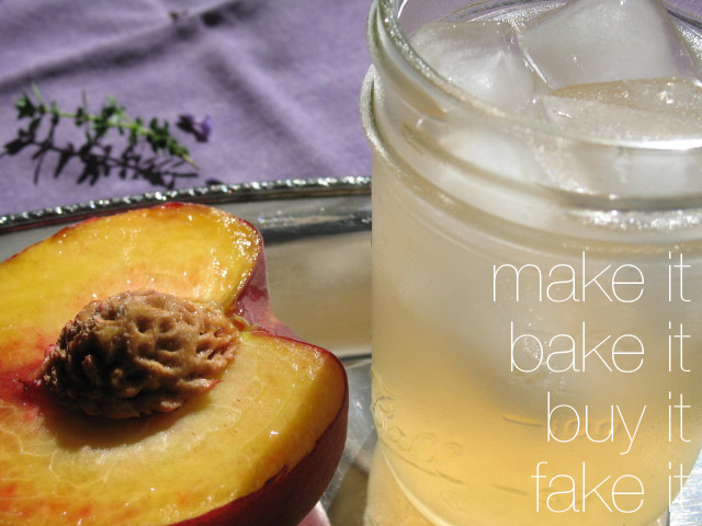 Peach-Thyme Lemonade