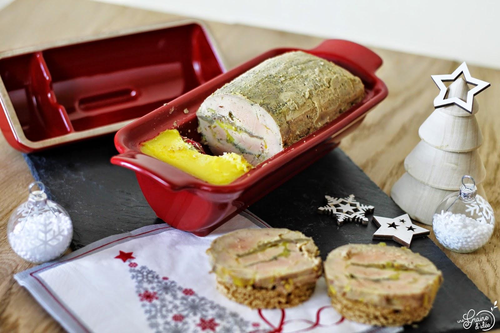 Foie Gras au Calvados avec insert Pommes Flambées - Une Graine d'Idée