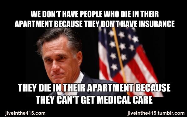 Romney meme medical care
