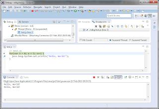 Eclipse JavaScript step-through debugging