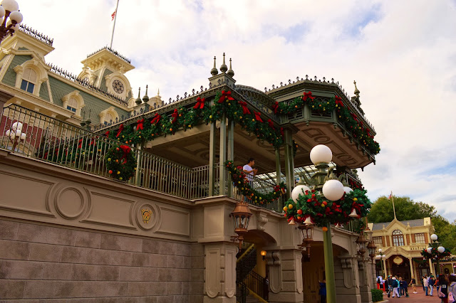 Christmas Holiday decorations are all up and down Main Street USA.