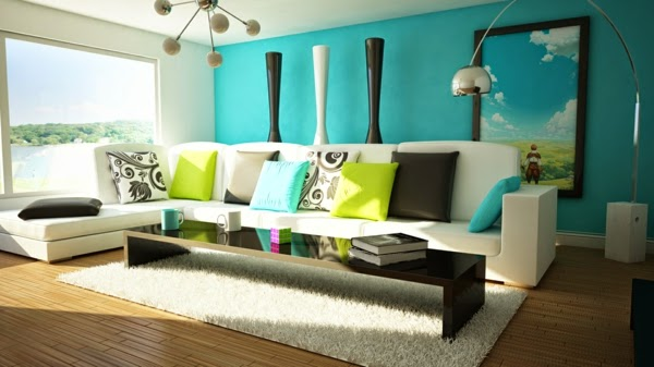 Green Blue Living Room Color Schemes And Combinations