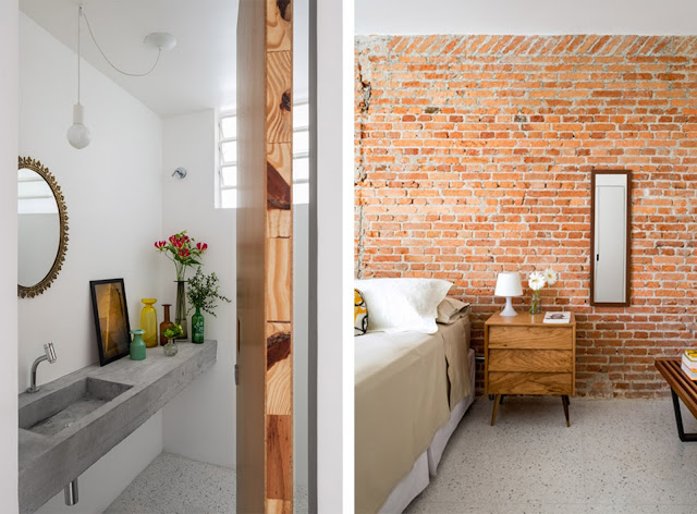 Appartamento a san paolo con pilastri e muri a vista by - Malta a novembre bagno ...