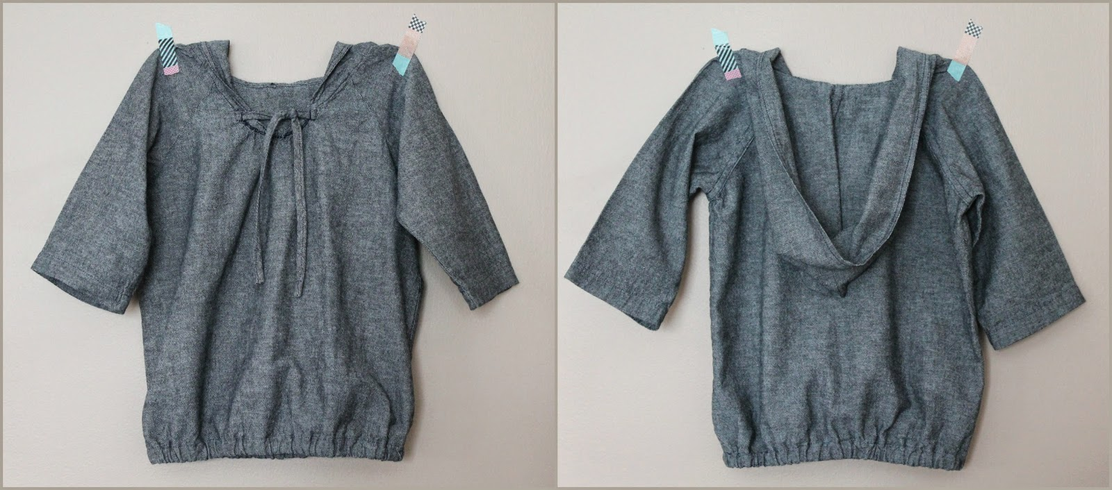 Sewing from Happy Homemade, Volume 2: Sew Chic Kids -- The Pull Over Parka (Pattern S) in Chambray | The Inspired Wren
