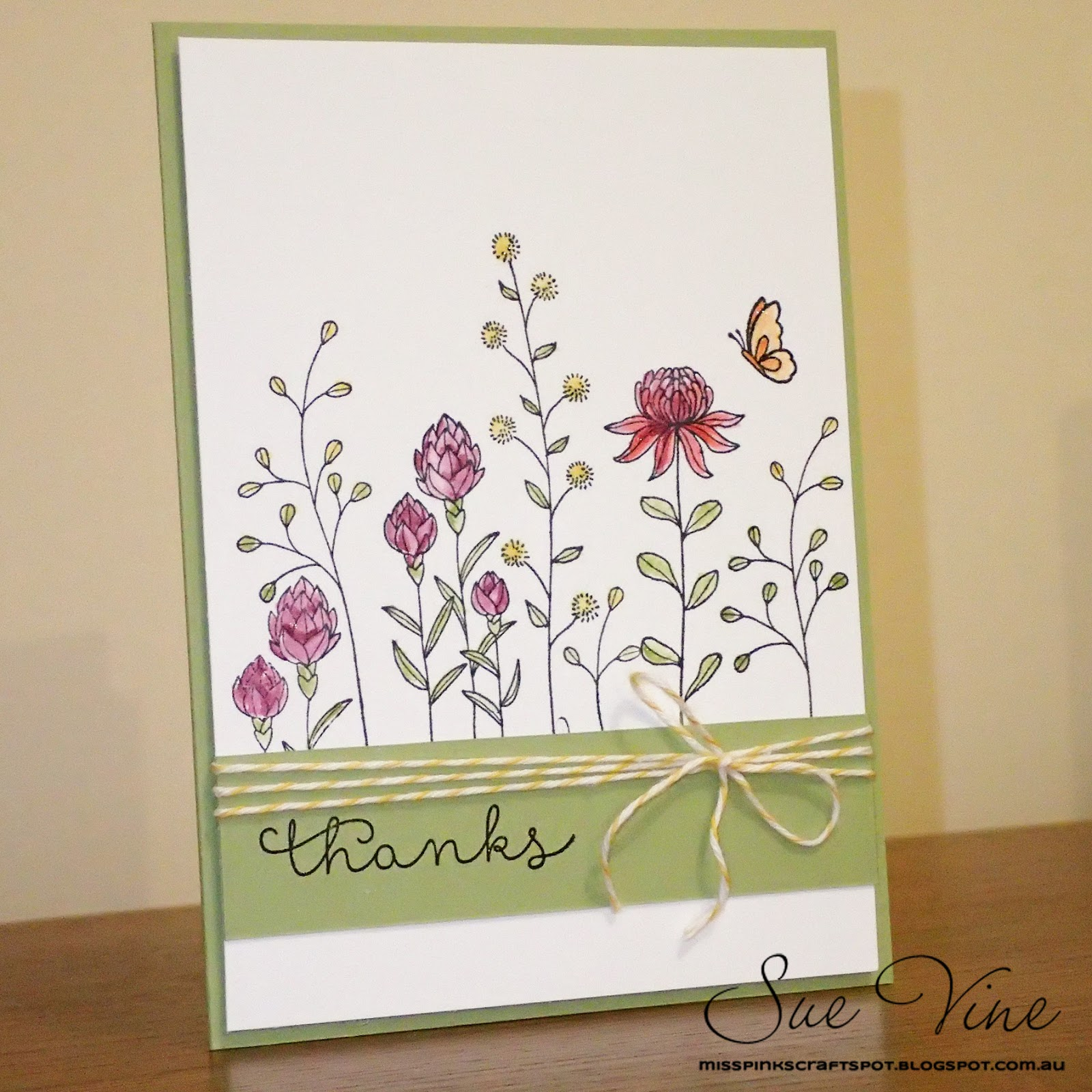 Miss Pinks Craft Spot: Flowering Fields Thanks