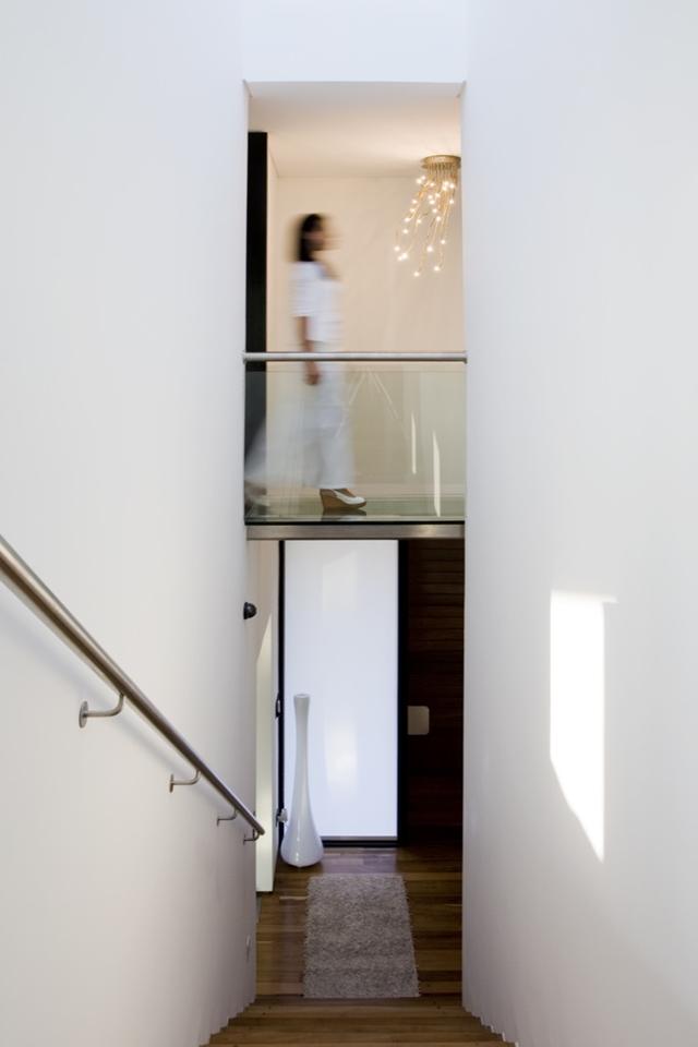 Staircase and interior bridge