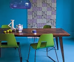 blue dining room decoration
