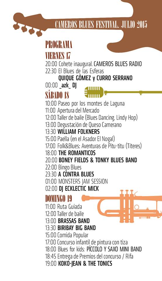 17 a 19 de julio de 2015: Cameros Blues Festival en Laguna de Cameros