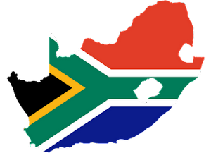 South Africa-flag map
