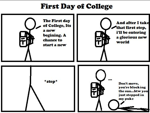 My First Day of College