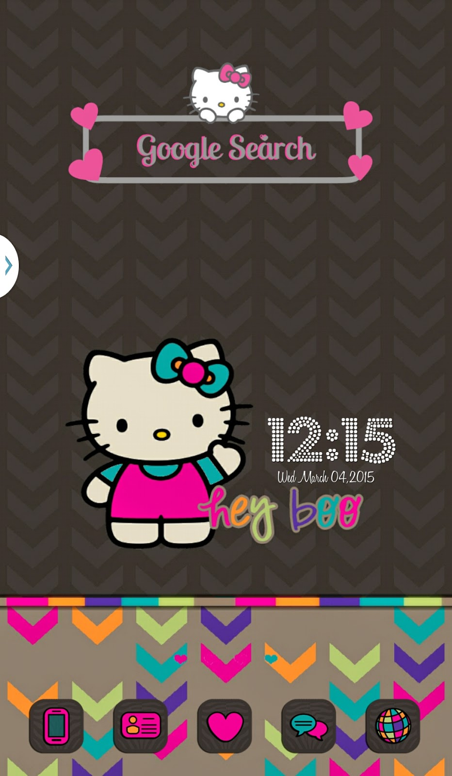 Google themes hello kitty - I Made A Hello Kitty Google Search Uccw Widget Below Is A Screen Shot Of What It Looks Like