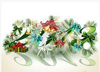 Cartão de Feliz Ano Novo 2012: Modelos Grátis para imprimir - Flores
