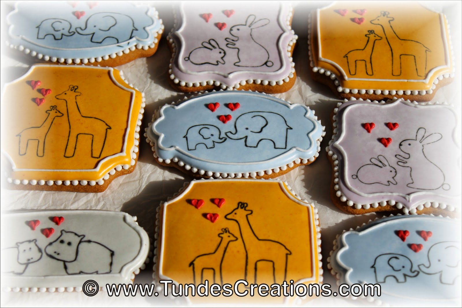Mother's Day cookies with cute animals by Tunde Dugantsi