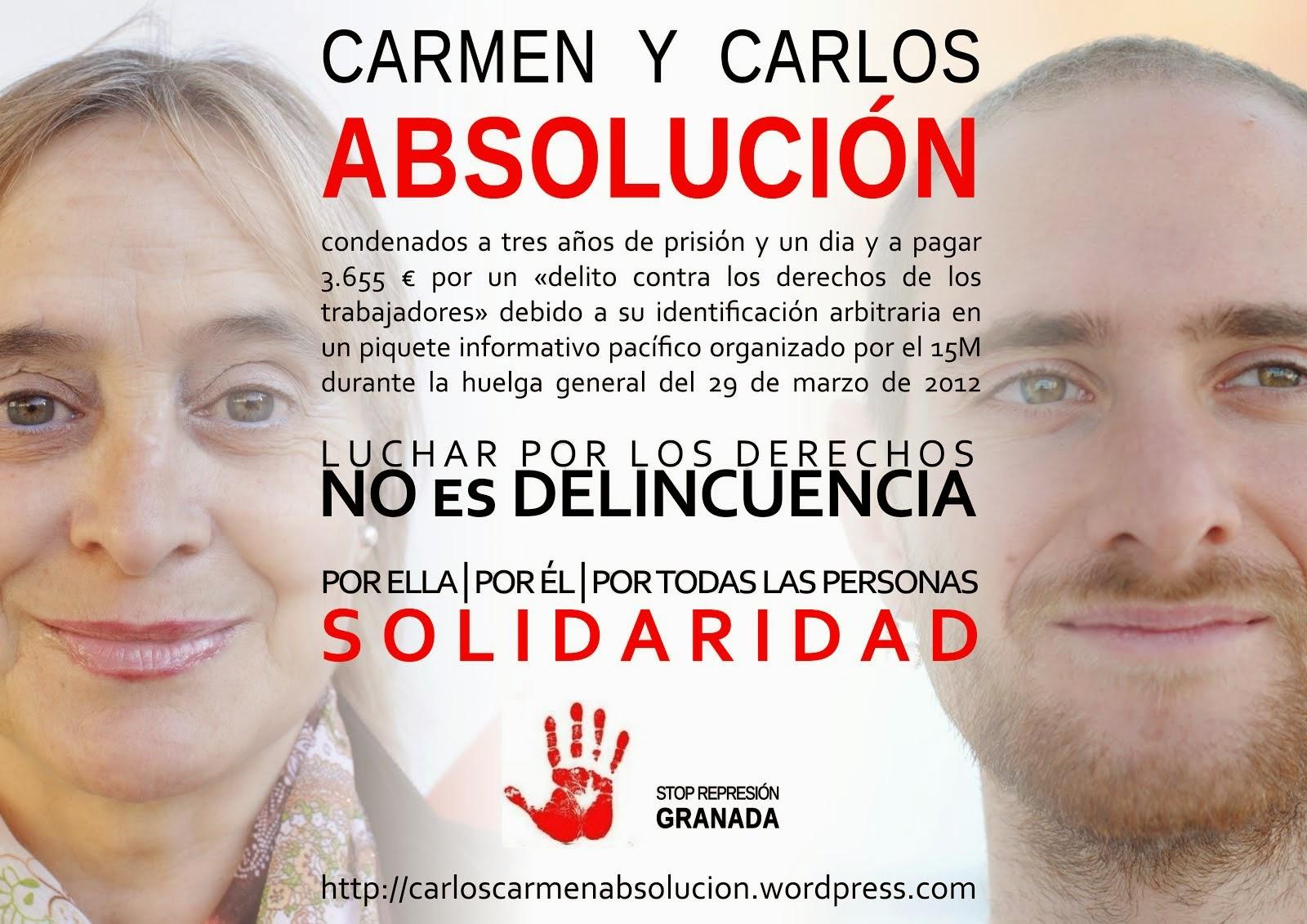 Absolució per a Carmen i Carlos - 3 anys de presó per la vaga del 29M