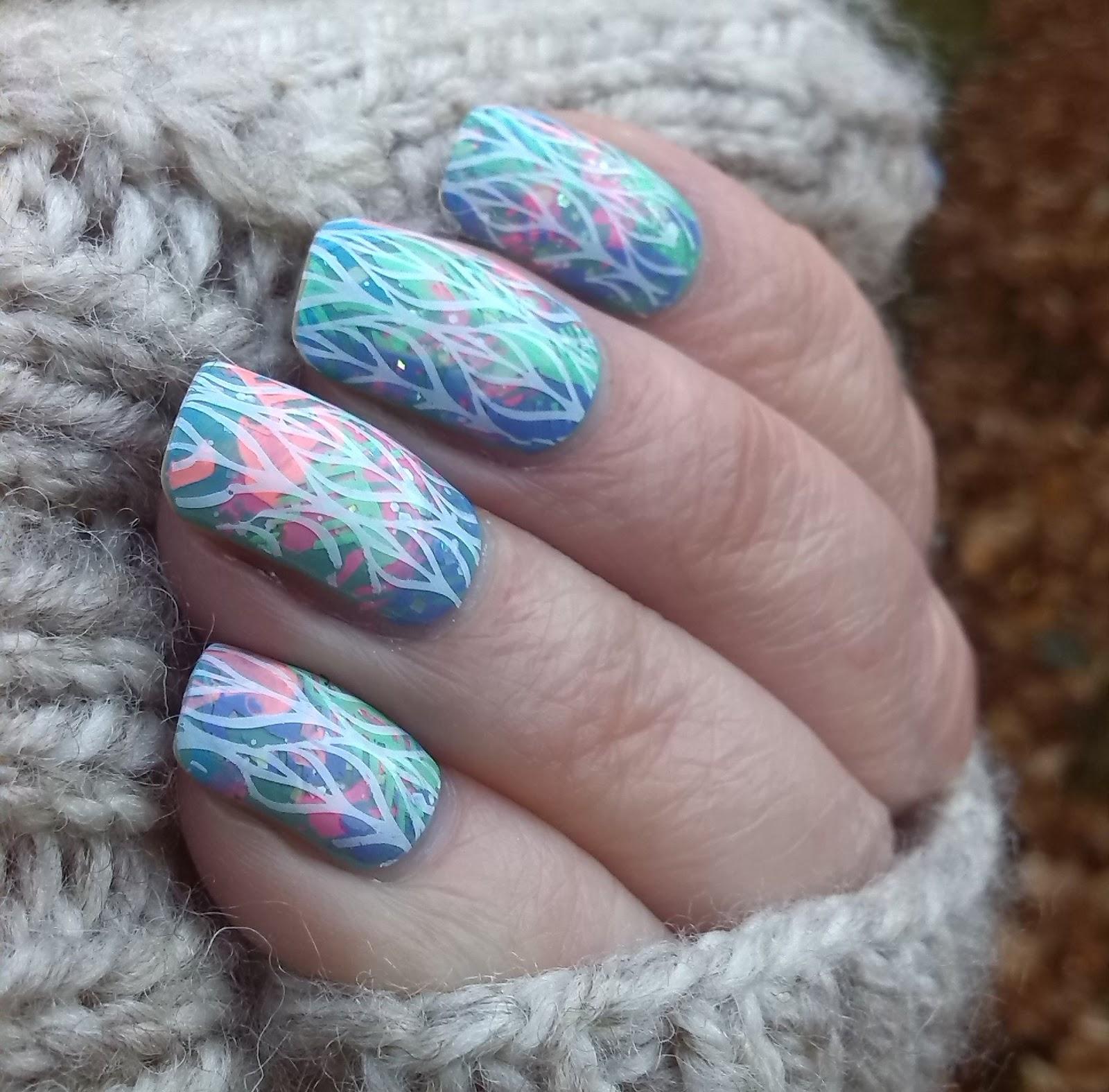 Born Pretty BP-L 003 over multicoloured pastel base