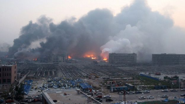 After explosion fire is still on going