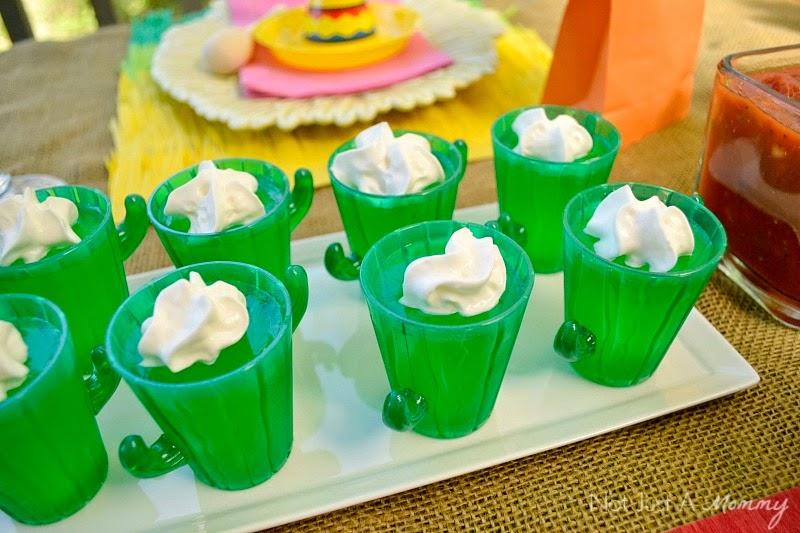 Cinco De Mayo party table cactus shooters