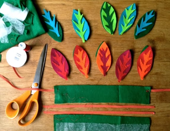 kid's felt leaf crown