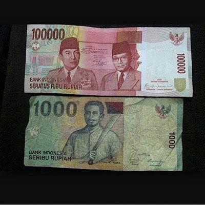 Kisah Tentang Uang Seribu dan Seratus Ribu