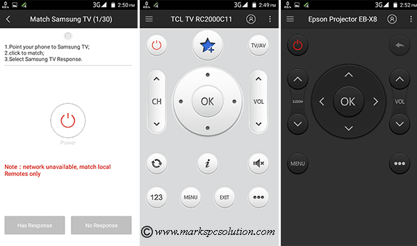 Smartphone Remote Control Settings