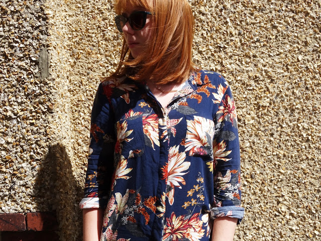 Summer floral shirt warehouse with max and co sunglasses