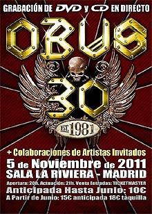 Obús grabará un DVD en directo en Noviembre en Madrid