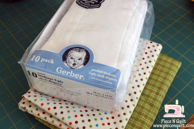 Piece N Quilt: Burp Cloths ~ A Free Tutorial