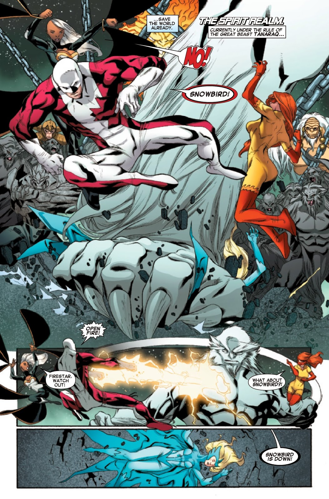 Amazing X-Men 12 Alpha Flight fight back